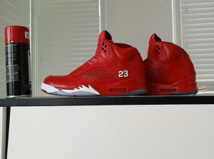 jordan 5 red customs